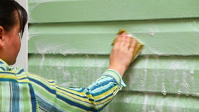 Kobiety domycia domu ściany zbiory
