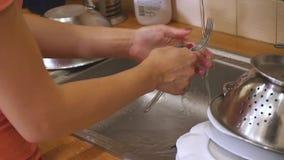 Kobiety domycia naczynia w zlew zbiory