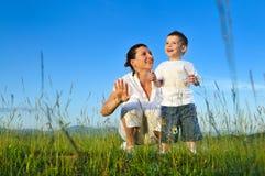 Kobiety dziecka bąbel zdjęcia royalty free