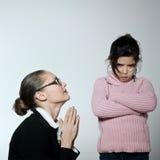 Kobiety dziecka konfliktu dipute problemy Obraz Stock