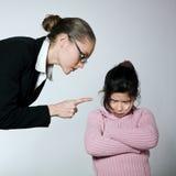 Kobiety dziecka konfliktu dipute problemy Fotografia Royalty Free