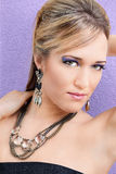 Kobiety Eyeshadow fryzura Zdjęcie Stock