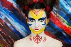 Kobiety farby arcydzieło fotografia royalty free