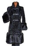 kobiety futro płaszcz Obrazy Royalty Free