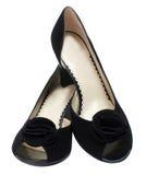 Kobiety giemzy buty Fotografia Stock
