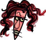 Kobiety gniewna karykatura Fotografia Royalty Free