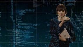 Kobiety i ekranu sensorowego interfejs