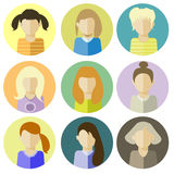 Kobiety ikona ilustracja Zdjęcia Stock