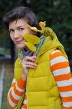 Kobiety jesieni portret Fotografia Royalty Free