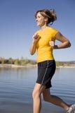 kobiety jeziorny kolor żółty Zdjęcia Stock