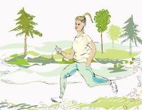 Kobiety jogging Zdjęcia Stock