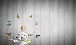 Kobiety juggler Obrazy Stock