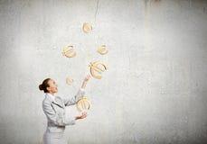 Kobiety juggler Obrazy Royalty Free