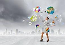 Kobiety juggler Zdjęcia Royalty Free