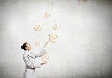 Kobiety juggler Fotografia Stock