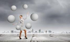 Kobiety juggler Zdjęcie Stock