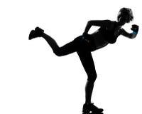 Kobiety kickboxing postury boksera boks Zdjęcia Royalty Free
