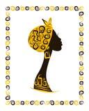 Kobiety kierownicza sylwetka dla twój projekta, etniczna Obrazy Stock