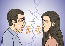 kobiety konfliktu pary mężczyzna kobiety młode Zdjęcie Royalty Free