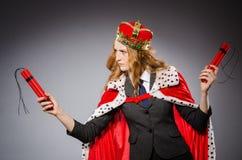Kobiety królowej bizneswoman Zdjęcia Royalty Free