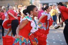 Kobiety kultury występ etniczny Zdjęcia Stock