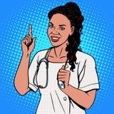 Kobiety lekarka afrykanin ilustracji