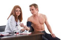 Kobiety lekarka i pacjent zdjęcia royalty free