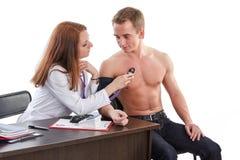 Kobiety lekarka i pacjent obraz royalty free