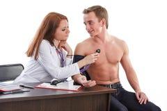 Kobiety lekarka i pacjent fotografia royalty free