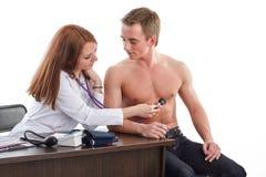 Kobiety lekarka i pacjent obraz stock