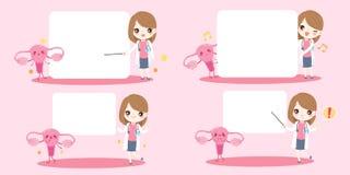 Kobiety lekarka z macicą royalty ilustracja