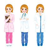 Kobiety lekarki Pozować Zdjęcia Stock