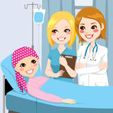 Kobiety lekarki wizyty młoda dziewczyna Obraz Stock