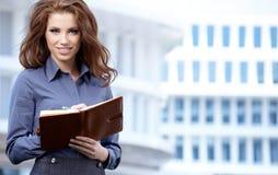 Kobiety lub uczeń na majątkowym biznesowym tle zdjęcia stock