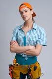 kobiety młodych pracowników budownictwa Fotografia Royalty Free
