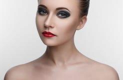 Kobiety Makeup piękna dymiący oczy zdjęcia royalty free