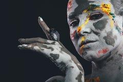 Kobiety malować z makijażem obraz royalty free