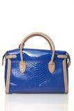Kobiety, manuał, błękitna torba Fotografia Stock