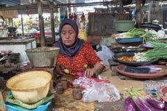 Kobiety marktet Surabaya w Indonezja Obraz Stock