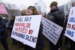 Kobiety Marzec w Toronto Fotografia Royalty Free