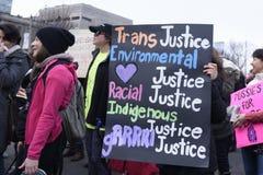 Kobiety Marzec w Toronto Zdjęcie Stock