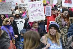 Kobiety Marzec w Toronto Fotografia Stock