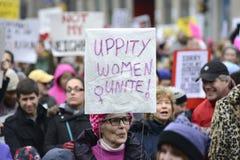 Kobiety Marzec w Toronto Zdjęcia Royalty Free