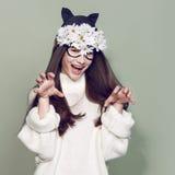Kobiety maski mody piękno Obraz Royalty Free