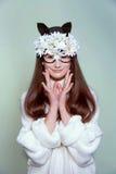 Kobiety maski mody piękno Zdjęcia Stock