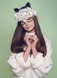 Kobiety maski mody piękno Obrazy Stock