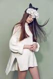 Kobiety maski mody piękno Zdjęcie Royalty Free