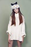 Kobiety maski mody piękno Fotografia Royalty Free