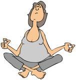 Kobiety medytować i obsiadanie Obrazy Stock