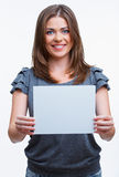 Kobiety mienia blanc karta Obraz Stock